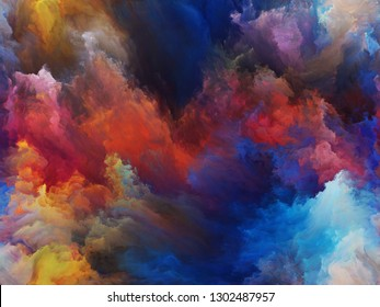 Abstract Background series. Abstract design made of Color and movement on canvas on the subject of art, creativity and imagination