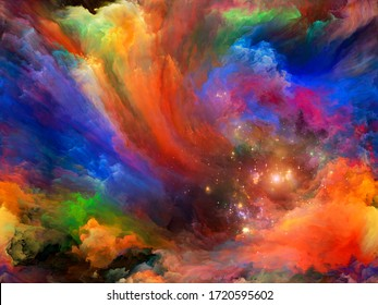 Abstract Background series. Abstract background made of Color and movement on canvas for use with projects on art, creativity and imagination