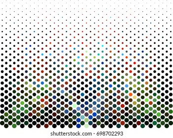 Abstract background. Spotted halftone effect.