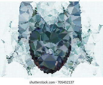 Abstract background. Spotted halftone effect. Raster clip art