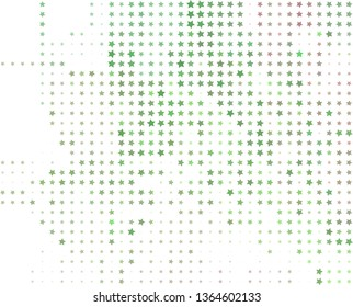 Abstract background with stars. Halftone effect. Raster clip art
