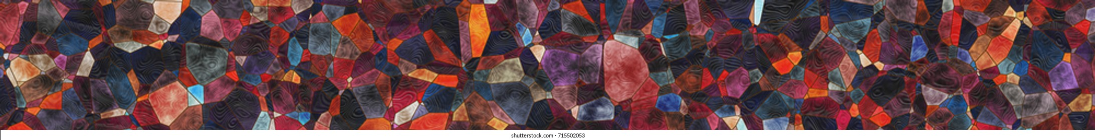 Abstract background. Structure of the geometric- panorama architectural mosaic.