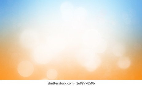 Abstract background summer blur with light bokeh