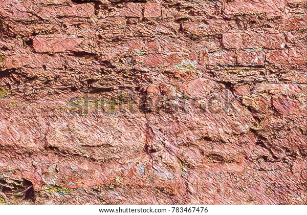 Abstract background texture for creative wallpaper.Custom illustration design.Place text on artistic poster template.Brick wall backgrounds for loft interior design