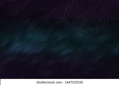 Abstract background texture of distant star space and multicolored nebula, illustration
