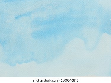 Abstract background and texture pattern blue, Illustration watercolor hand draw and painted on paper