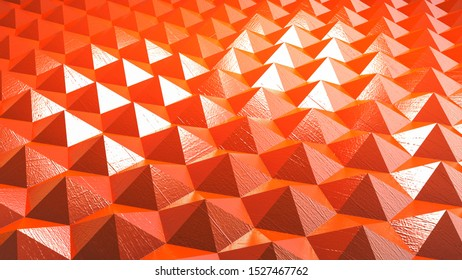 abstract background with triangles pyramids 3d