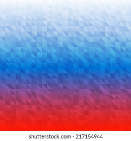 Abstract Background using Russia flag colors, raster illustration