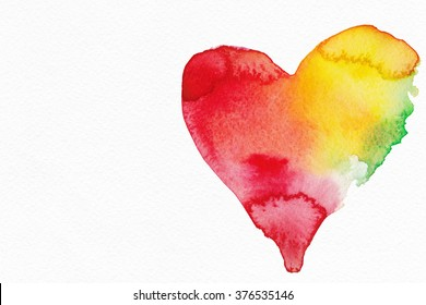 Abstract background watercolor. By St. Valentine's Day.