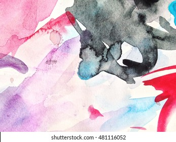 abstract background watercolor.background abstract oil on canvas.Abstract watercolor art hand painted background. Watercolor stains. colorful vintage  texture