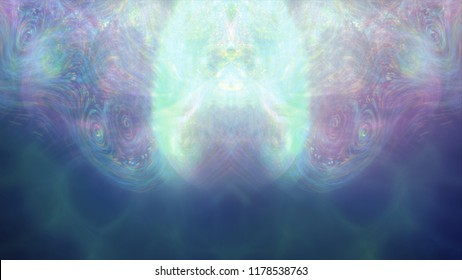 Abstract background with waves and flicker particles on waving stripes.