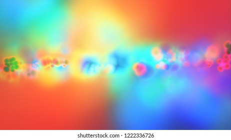 Abstract background with waves and flicker particles on blur coloring backdrop.