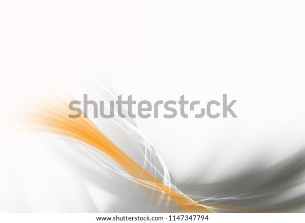 Abstract background waves. White, grey and orange abstract background.