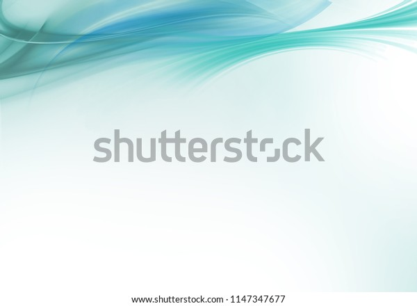 Abstract background waves. White and turquoise abstract background.