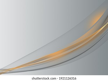 Abstract background waves. Zinc grey and orange abstract background for wallpaper or business card