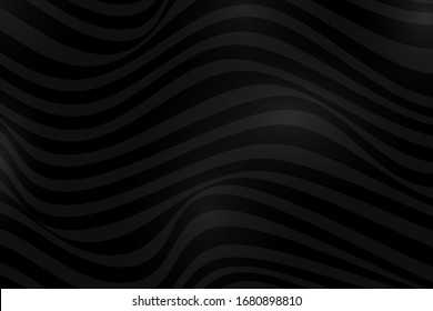 Abstract background with wavy black line
