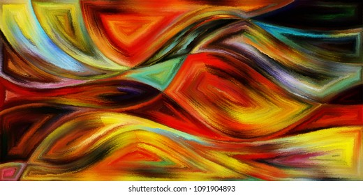 Abstract Background of wavy forms on subject of modern art