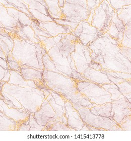 abstract background, white marble with gold glitter and pink veins stone texture, painted artificial marbled surface, pastel marbling illustration
