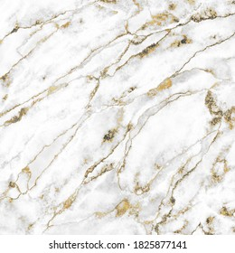 Abstract background, white marble with gold veins stone texture, luxurious material design, digital marbling illustration