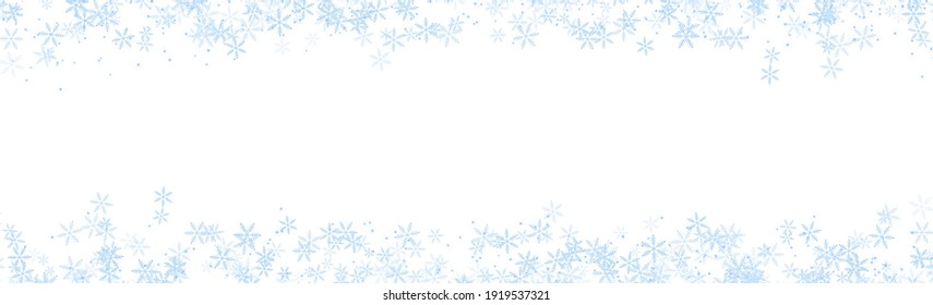 Abstract Banner snowflake on blue backgrounds with copy space , illustration wallpaper