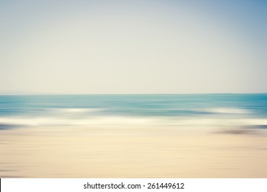 Abstract Beach Scene Blurred Background