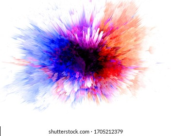 Abstract beautiful Colorful 3D rendering watercolor illustration painting background.