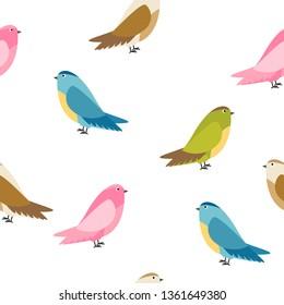 Abstract Bird Seamless Pattern Background  Illustration