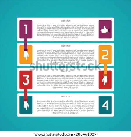 abstract bitmap 4 steps infographic template in flat style for layout  workflow scheme, numbered options