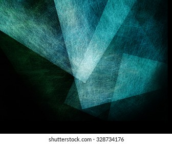 abstract black background with blue floating transparent shapes