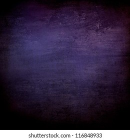 abstract black background or purple blue background with lots of rough distressed vintage grunge background texture design, elegant blank background, black border edges with center spotlight text area