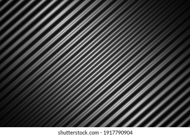 Abstract black background with soft wave line, 3d rendering
