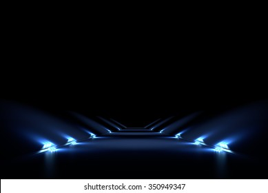 Abstract black background with a vertical 3D illumination