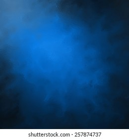 abstract black blue background, elegant gloss or glass textured brush strokes, painted black and blue wall with corner spotlight and dark shadows