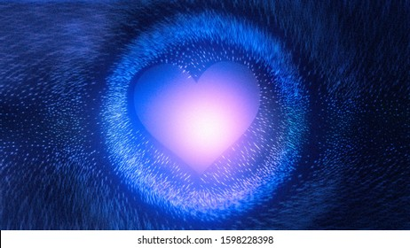 abstract black blue heart wallpaper 260nw 1598228398