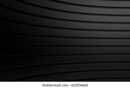 Abstract black panels with copyspace for text. 3D rendering