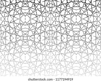 Abstract black pattern on white background
