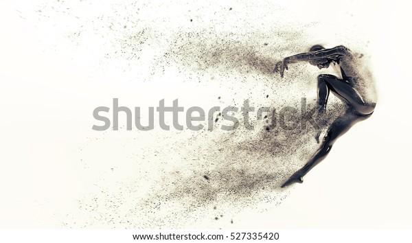 4d abstract human body action ballet dance pose wallpaper Mural