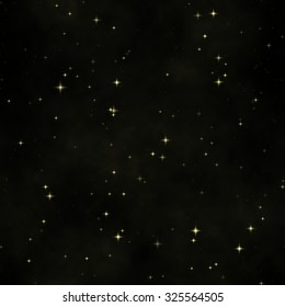 Abstract Black Space seamless background texture with stars
