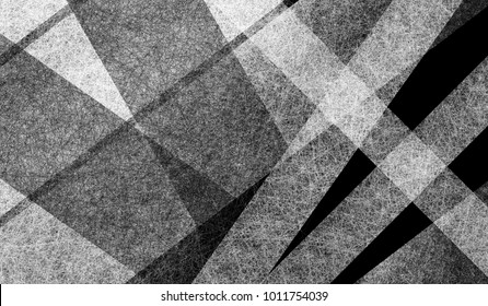 abstract black white and gray background design with layers of thick and thin stripes in diagonal and vertical angles, geometric background with monochrome colors and lots of texture