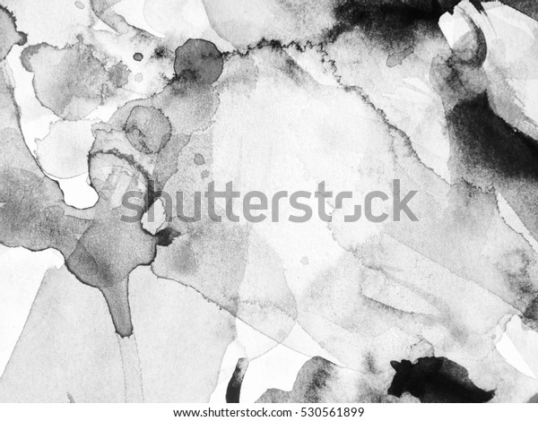 Abstract Black White Ink Painting On Stockillustration 530561899
