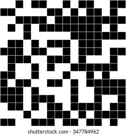 Abstract black and white mosaic background.