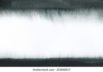 Abstract black and white watercolor background with black stripes