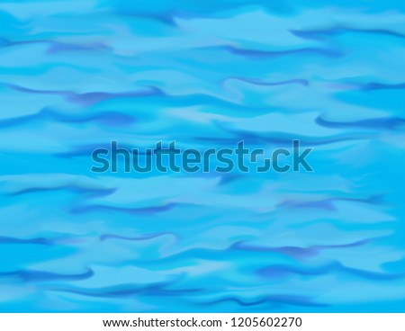 Abstract blended waves in water textured pattern background illustration
