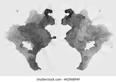abstract blot. Rorschach test