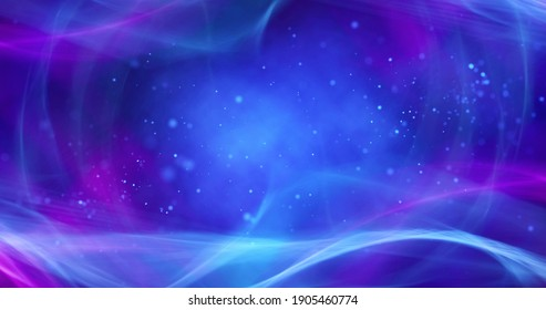Abstract blue background. Bright, shiny background with smooth lines.  3 d illustration