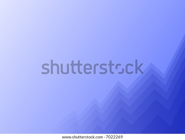 abstract blue background with growing graph curves