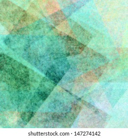 abstract blue background, light cool color tone wash, layers of design element shapes, geometric angles and triangle pattern, blurred blue background effect, faded vintage grunge background texture