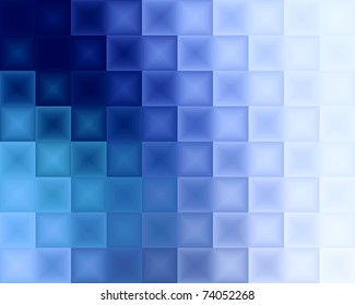 Abstract blue background with rectangles texture