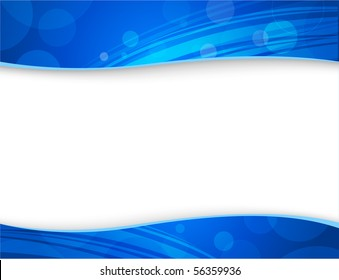 Abstract blue backgrounds for header and footer  - for VECTOR version please visit my portfolio