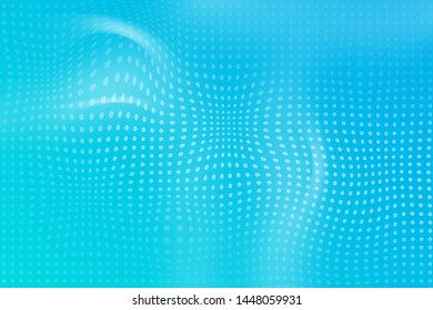 Abstract blue doted background illustration Stock Photo, Circle concept
